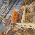 Vue d'en haut le futur rez-de-chaussée.